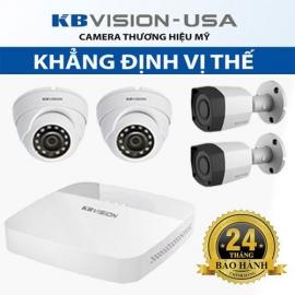 Bộ 4 camera Kbvision HD 1080p