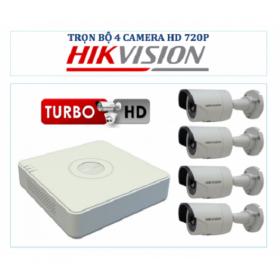 Bộ 4 camera Hikvision 720p +DVR 4 kênh